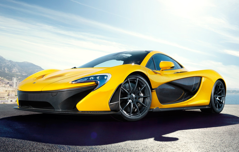 Photo wallpaper McLaren, the concept, yellow, McLaren, McLaren P1