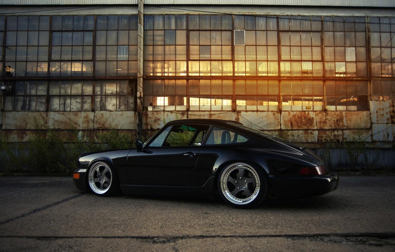 Photo wallpaper 911, Porsche, black, 964, Carrera 2