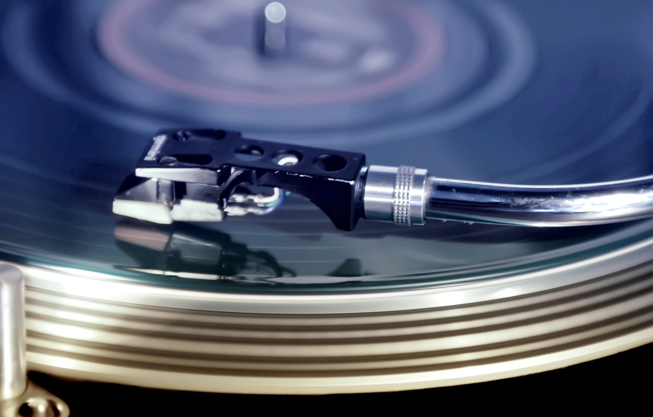 Photo wallpaper music, turntables, record
