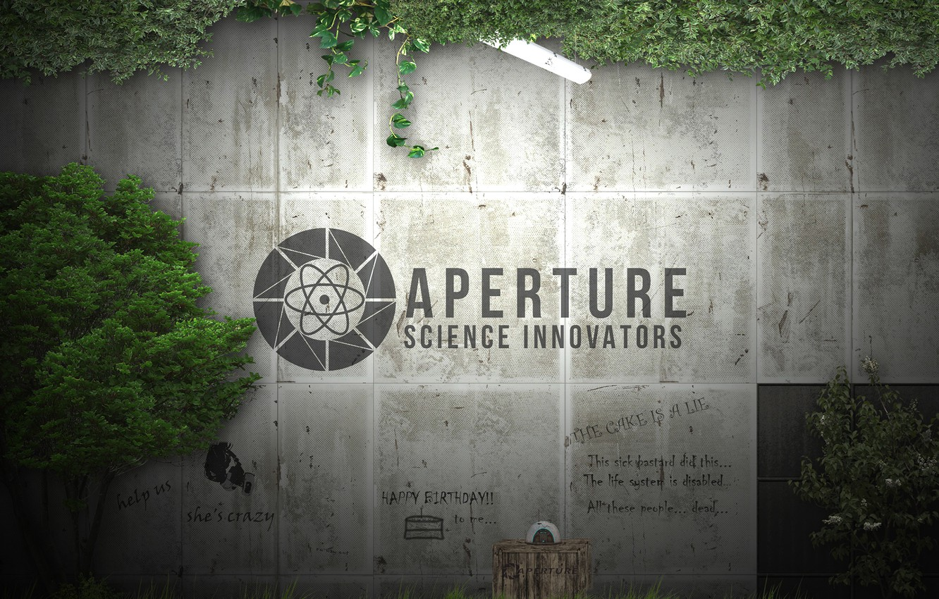 Wallpaper Labels Thickets Portal Portal 2 Aperture Glados