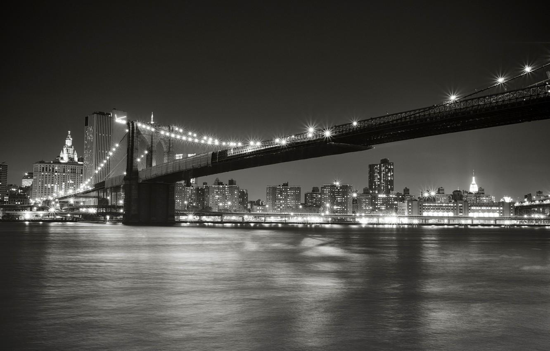 Wallpaper Night The City Lights Strait New York Lighting