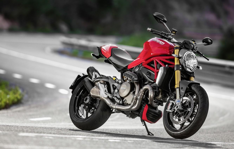 Photo wallpaper red, Ducati, Monster, moto, road, bike, Legend, classic