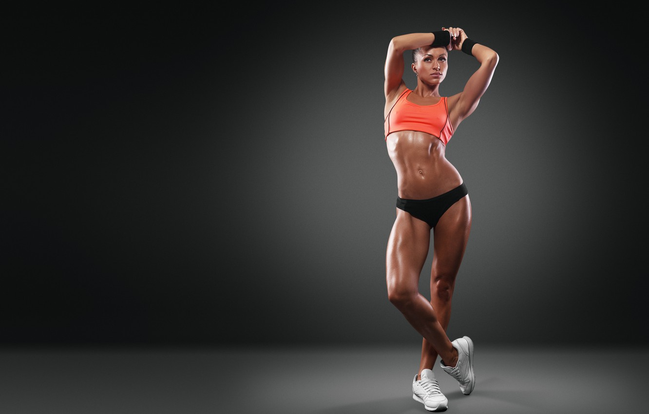 Wallpaper Sexy Pose Fitness Girl Toned Body Images For