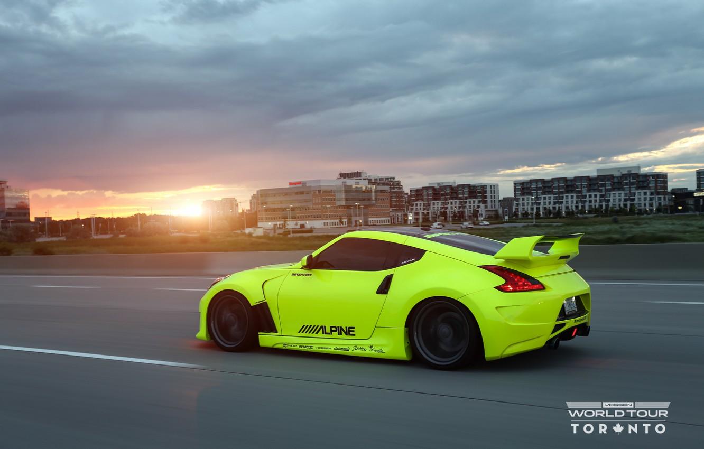 Photo wallpaper sunset, Nissan, tuning, 370Z