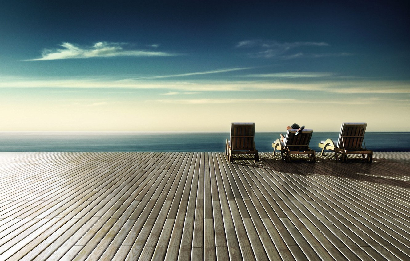 Photo wallpaper the sky, stay, chaise, 153