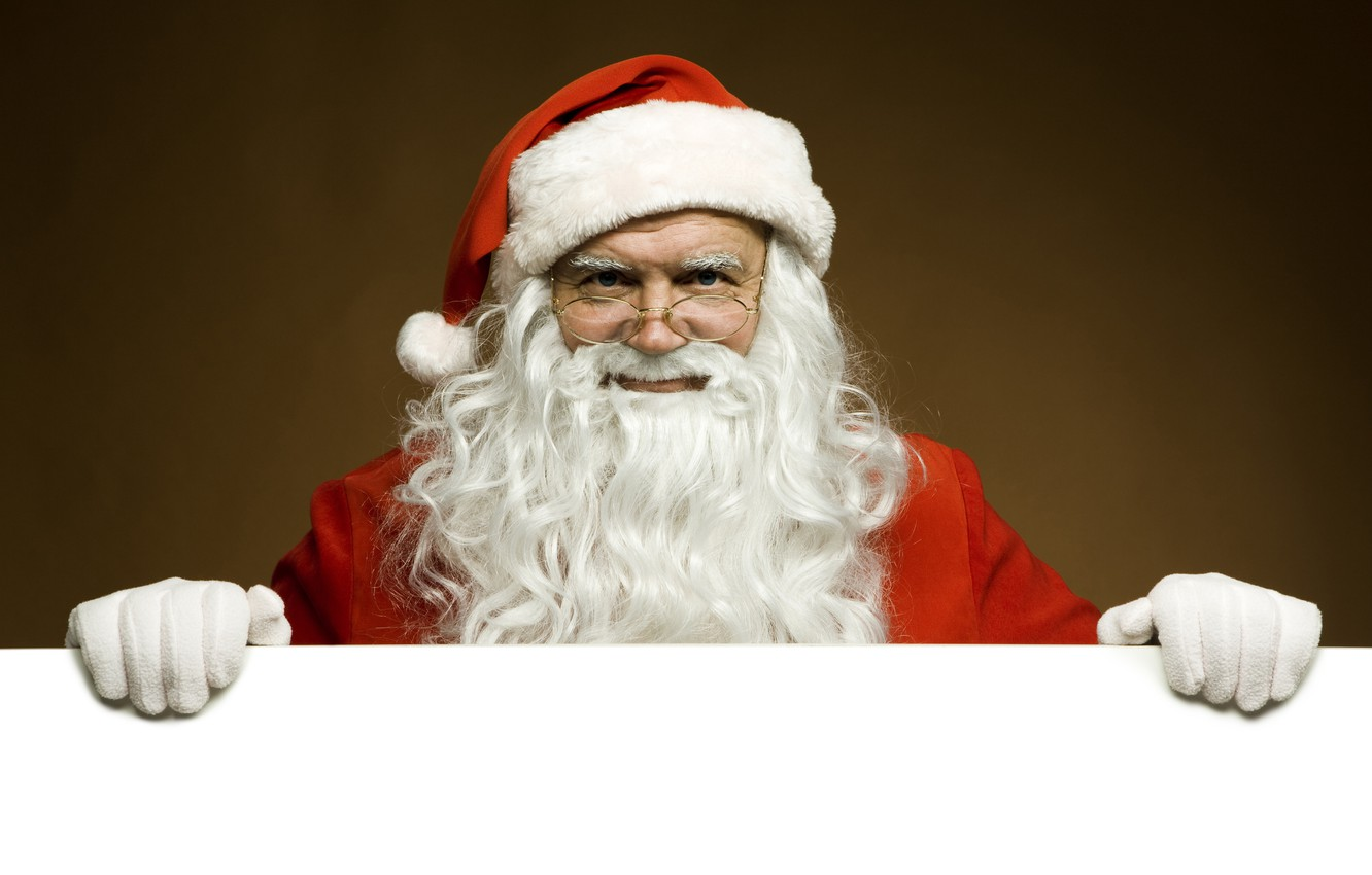 Photo wallpaper white, red, face, background, new year, Christmas, hands, glasses, the old man, beard, Santa Claus, …