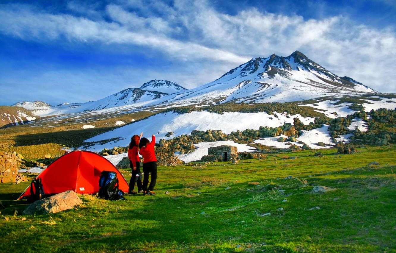 Wallpaper Mountain Tents Highland Camping Volcan Images For Desktop Section Pejzazhi Download