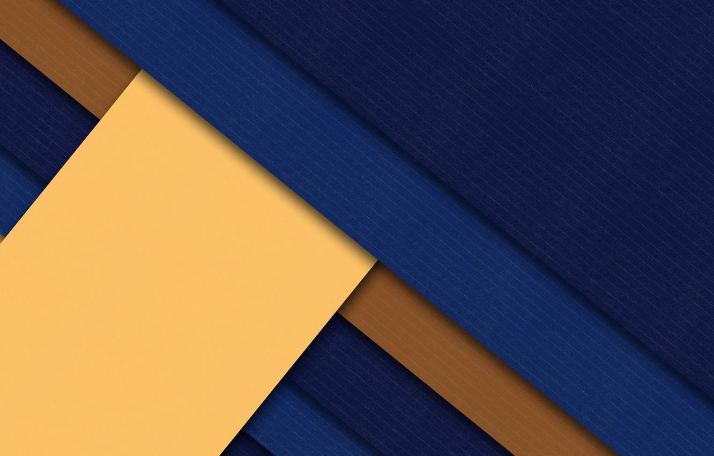 Photo wallpaper blue, yellow, strip, geometry, brown, design, color, material