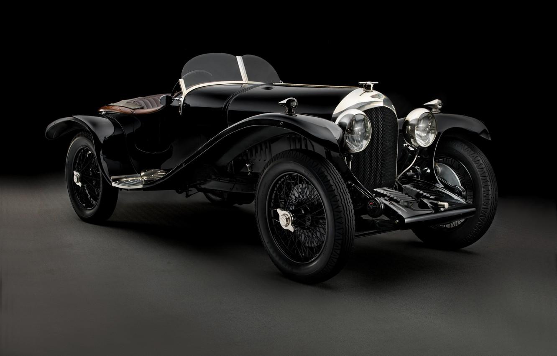 Photo wallpaper Bentley, black background, Brooklands, Bentley, 1925
