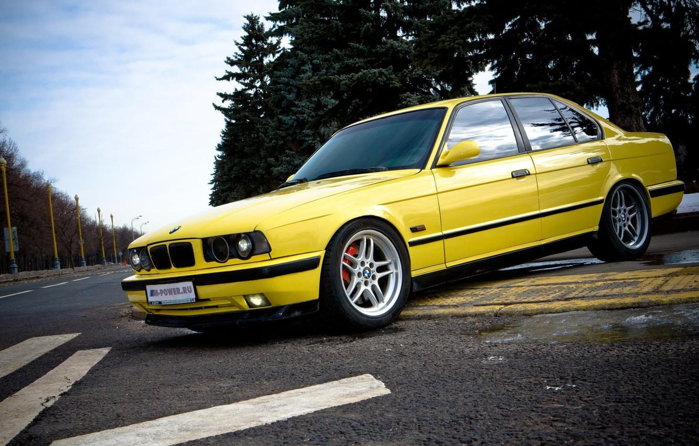 Photo wallpaper BMW, E34, 5, BMW5