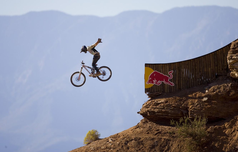 Photo wallpaper flight, Red Bull, downhill, nohand, Rampage