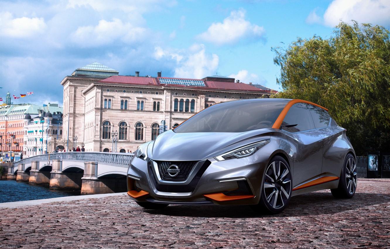 Photo wallpaper Concept, the concept, Nissan, Nissan, hatchback, city, 2015, Sway