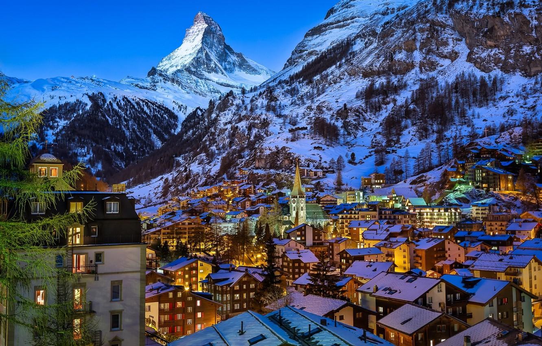 Wallpaper Mountains Building Mountain Home Switzerland