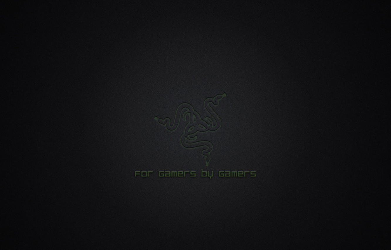 Photo wallpaper Green, Black, Logo, Razer, Wallpaper, Hi-Tech, Minimalism, For Gamers By Gamers