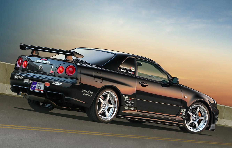 Photo wallpaper Nissan, Skyline, r34