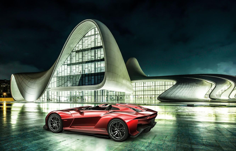 Photo wallpaper red, Beast, Baku, Rezvani, Rezvanimotors