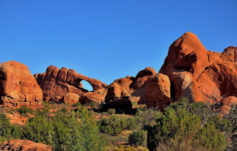 Wallpaper The Sky Stones Rocks Utah Usa Arches National