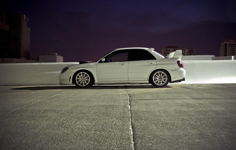 Photo wallpaper Impreza, City, cars, auto, wallpapers auto, Subaru Impreza, Tuning cars, Wallpaper HD, Parking, Sportcars, wallpapers …