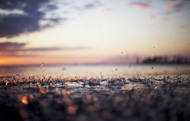 Photo wallpaper water, drops, rain, drop