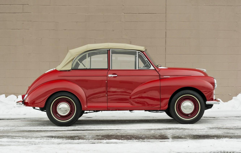 Photo wallpaper machine, auto, red, retro, car, old, red, classic, old, 1000, tourer, machine., minor, morris