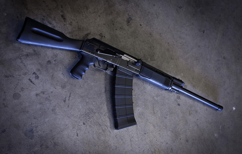Photo wallpaper background, the gun, carabiner, Saiga-12K, self-loading