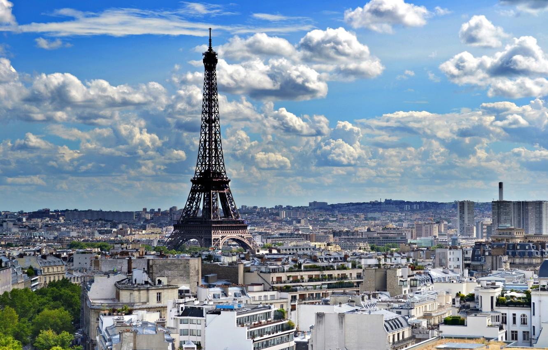 Photo wallpaper Eiffel tower, Paris, France