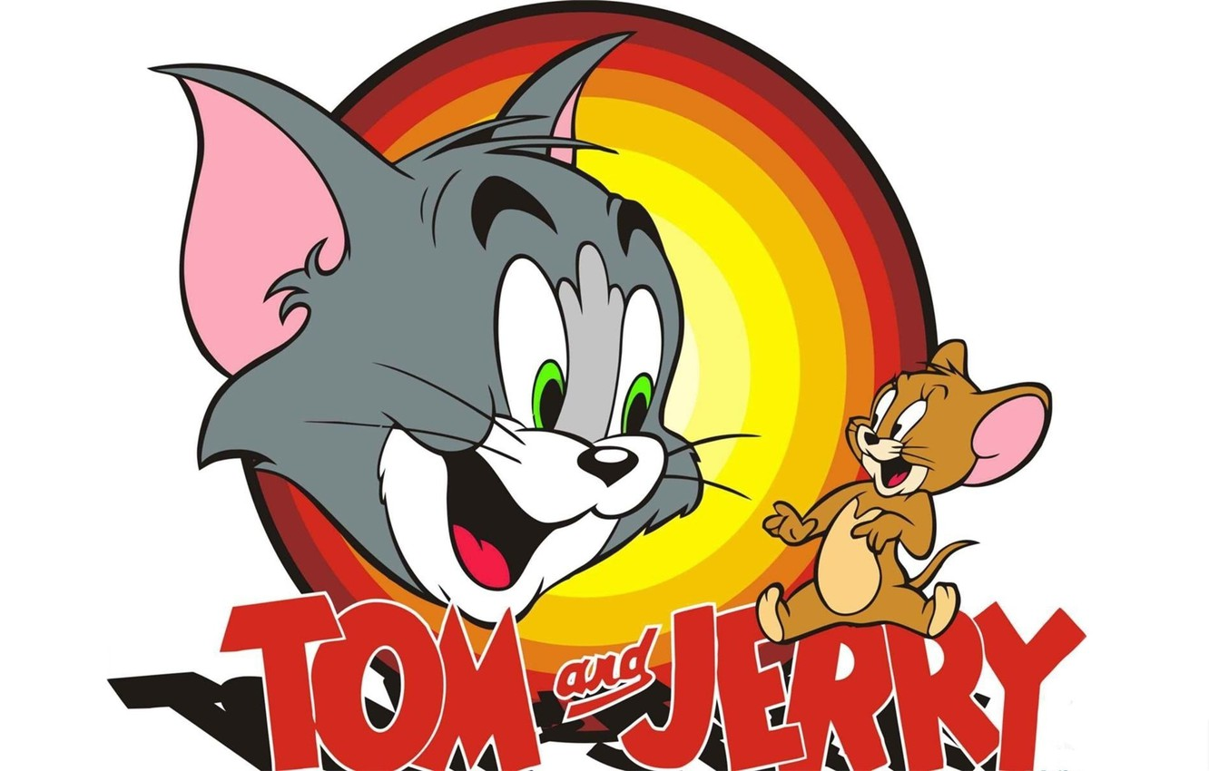 Wallpaper Cat Cartoon Mouse White Background Saver Tom