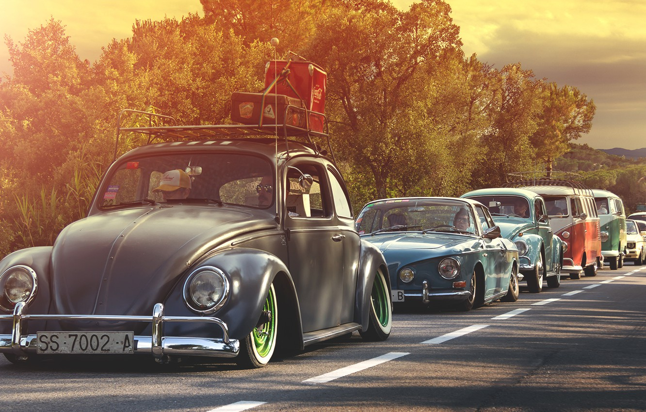 Photo wallpaper volkswagen, golf, Volkswagen, beetle, bus