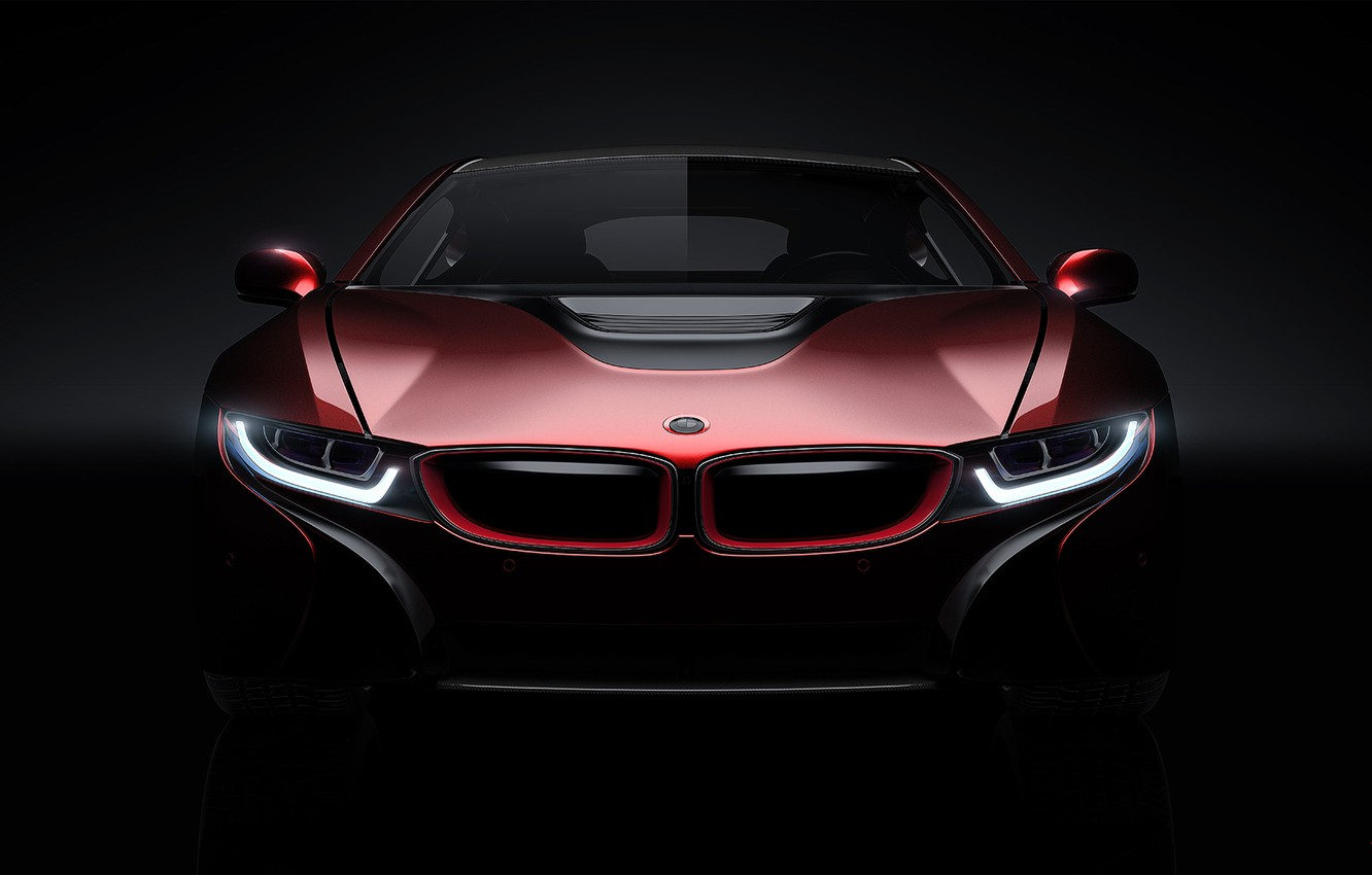 Photo wallpaper Concept, BMW, Light, Red, Car, Front