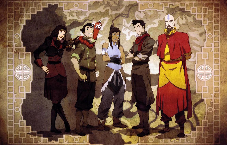 Photo wallpaper map, avatar, avatar, friends, Mako, Korra, Times, The Legend of Korra, Avatar: the Legend of …