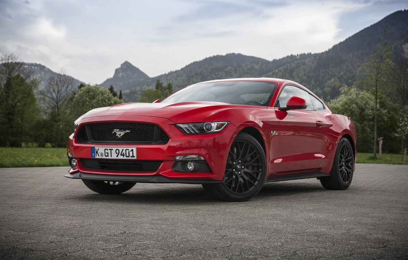 Photo wallpaper Mustang, Ford, Mustang, Ford, Fastback, 2015, EU-spec