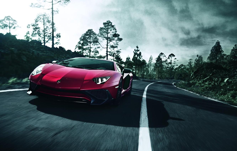 Photo wallpaper Lamborghini, Red, SuperVeloce, Aventador, LP-750