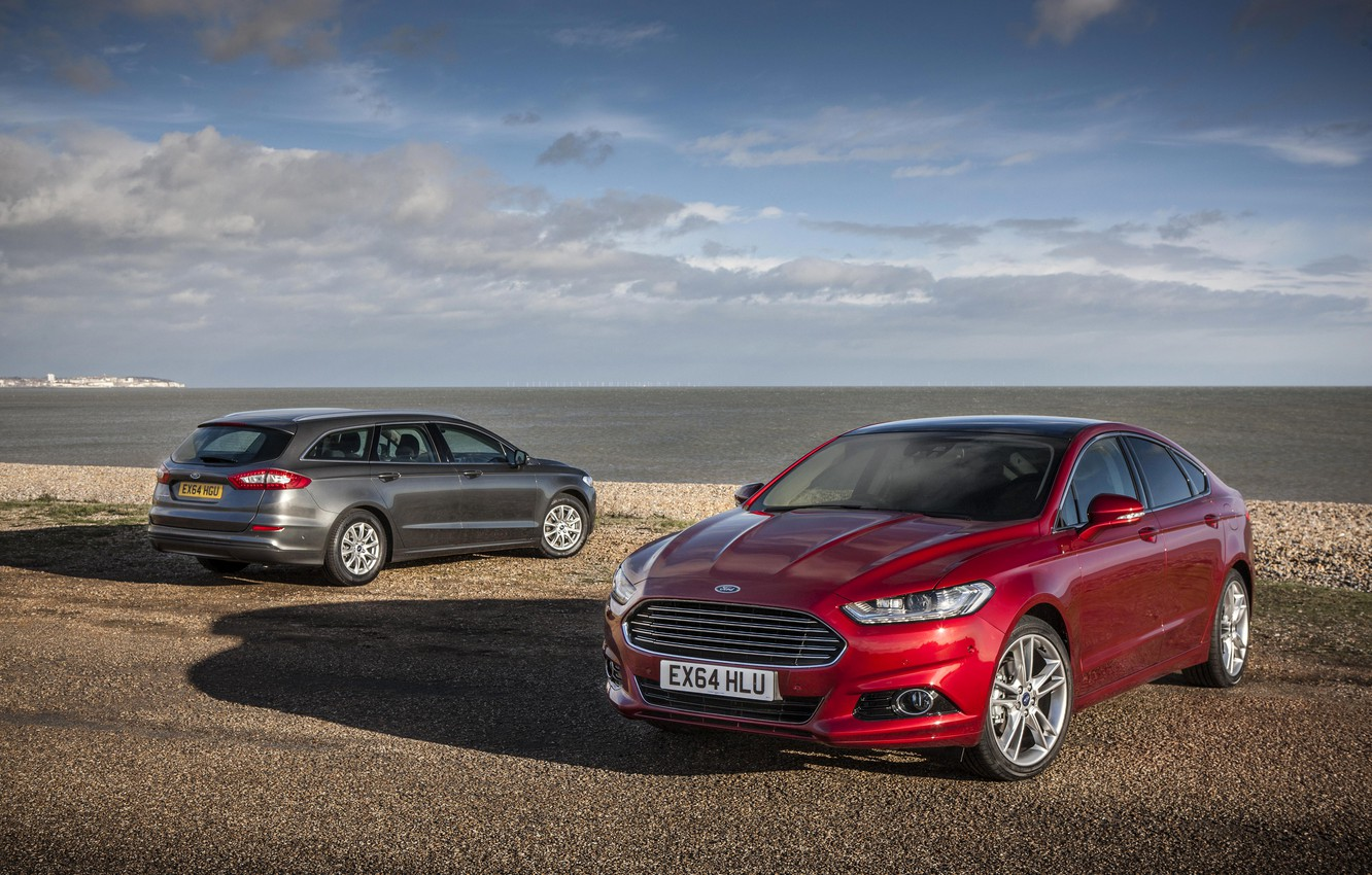 Photo wallpaper photo, Ford, Cars, Two, Mondeo, 2015