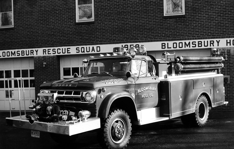 Photo wallpaper Dodge, Dodge, rarity, 1968, fire truck, Firetruckm, Power Wagon