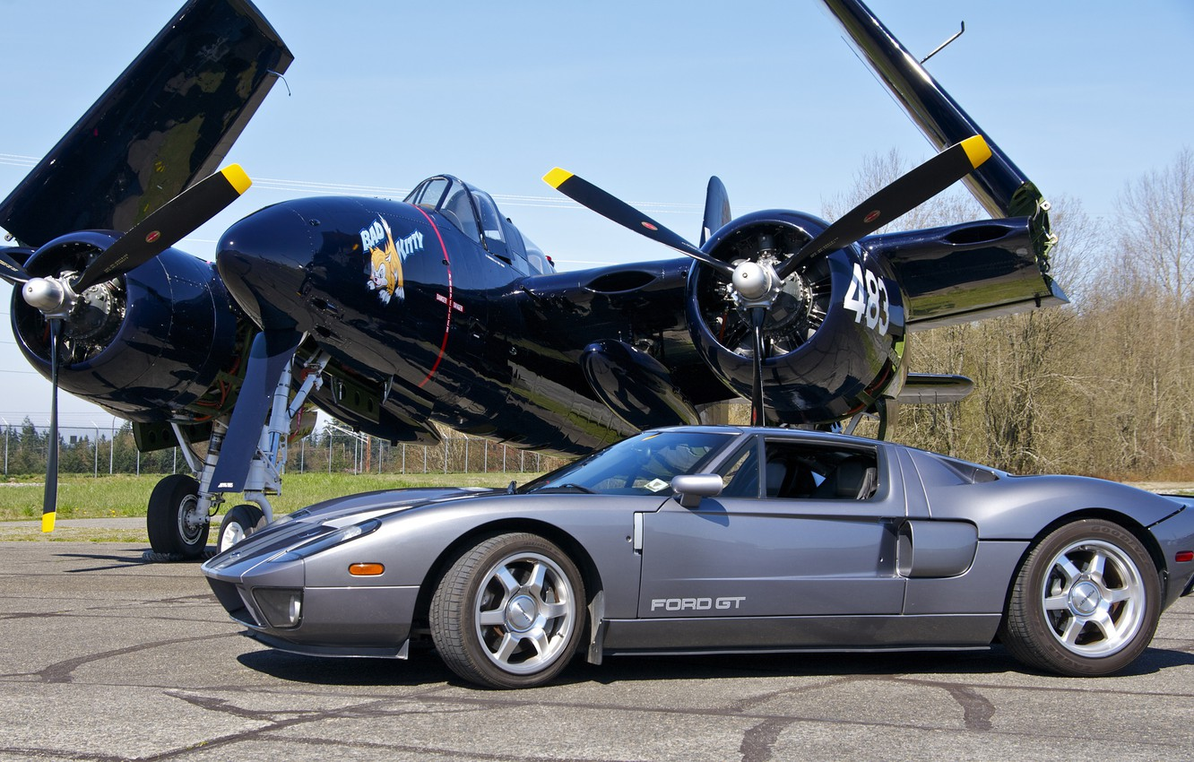 Photo wallpaper Ford, fighter, Ford, supercar, the airfield, F7F Tigercat