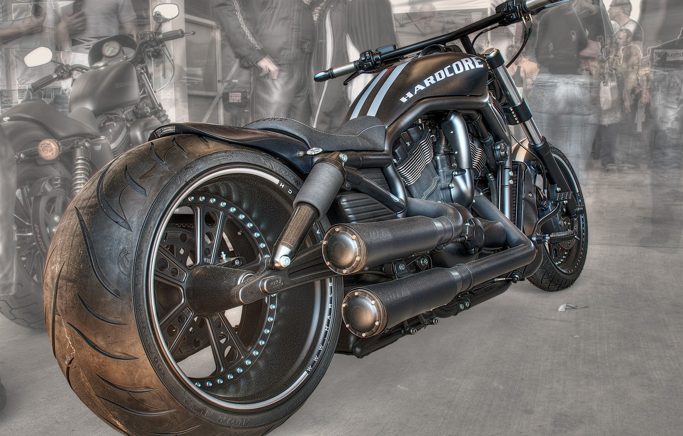 Photo wallpaper design, style, background, black, HDR, motorcycle, form, bike