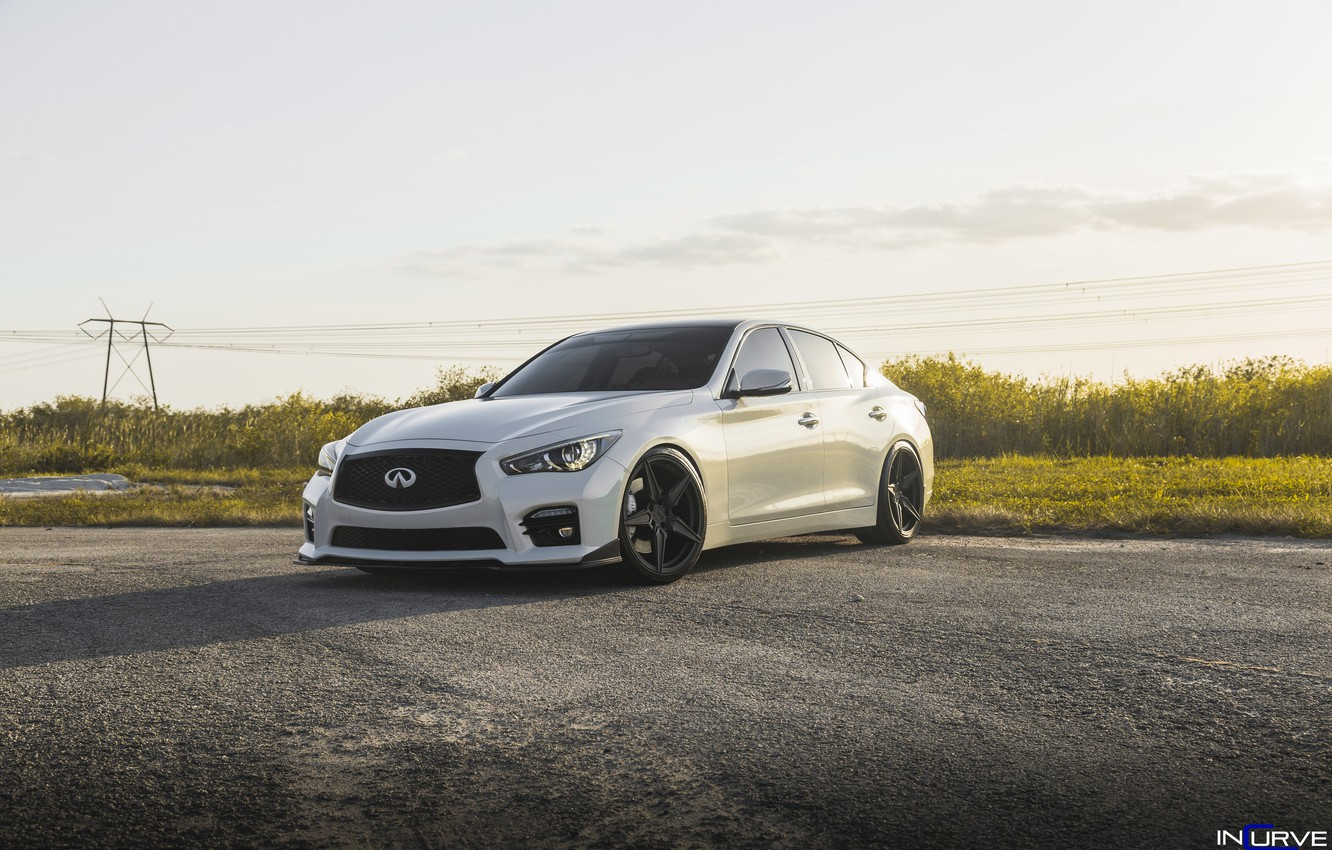 Photo wallpaper Infiniti, White, Wheels, Incurve, Q50s, LP-5