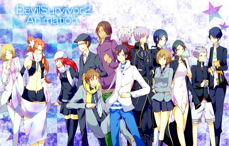 Photo wallpaper anime, art, characters, Devil Survivor 2, Devil Survivor