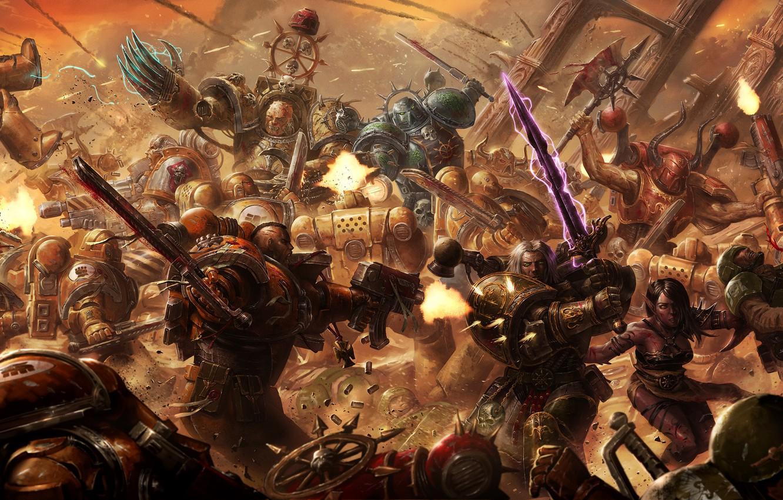 Photo wallpaper war, Warhammer, Warhammer 40K, imperial fists
