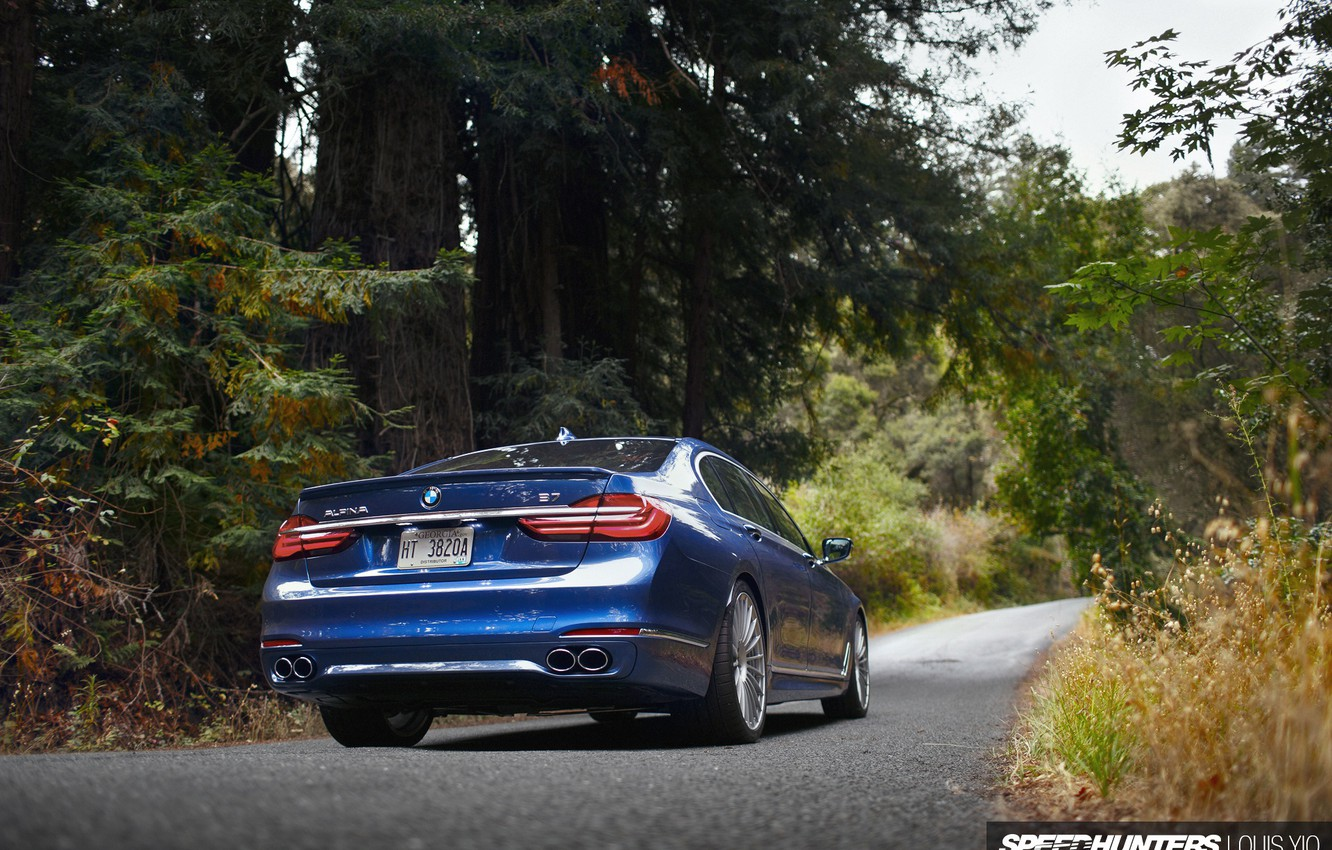 Photo wallpaper road, forest, nature, BMW, ALPINA, B7 19