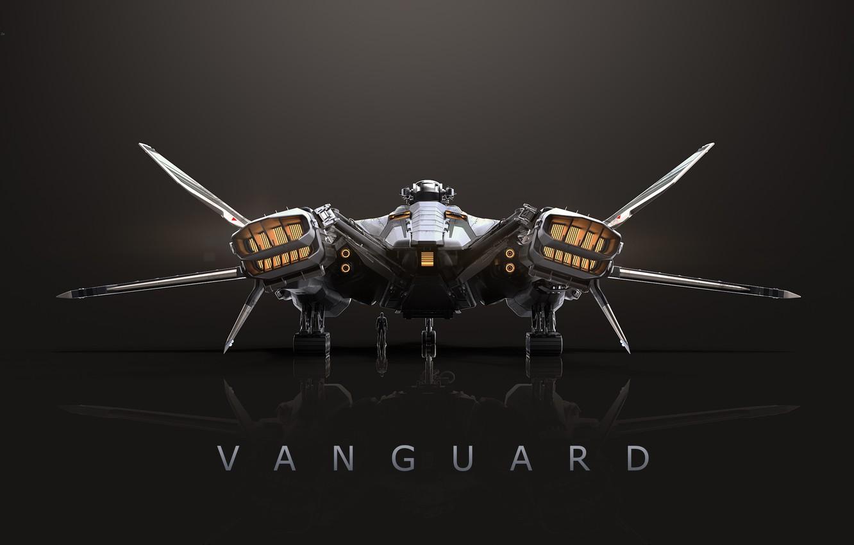 Photo wallpaper Star Citizen, space ship, Vanguard