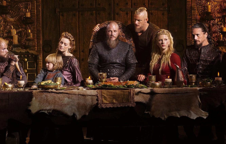 Photo wallpaper crow, princess, Viking, Vikings, barbarian, show, Katheryn Winnick, Travis Fimmel, TV series, Clive Standen, Ragnar …