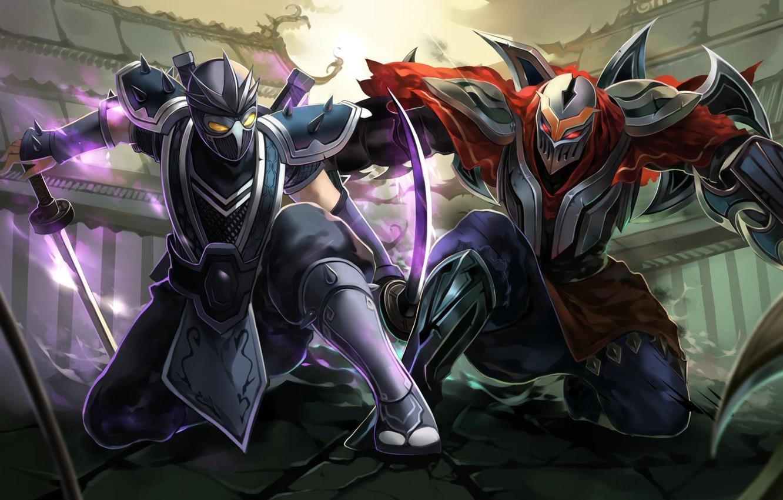 Wallpaper Killer Assassin Shen League Of Legends Ninja
