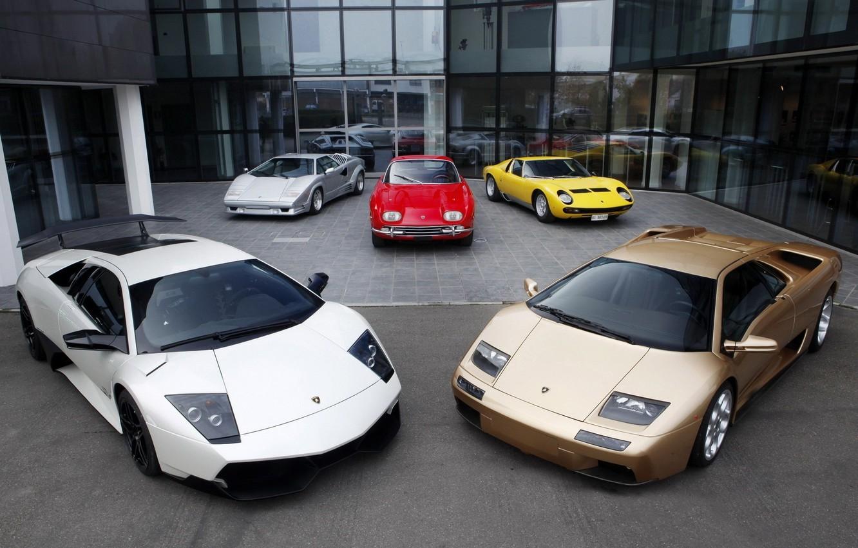 Photo wallpaper Lamborghini, Murcielago, 350 GT, Diablo, Miura, Countach