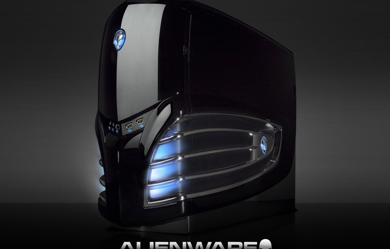 Photo wallpaper light, design, sign, neon, Alienware, the system unit