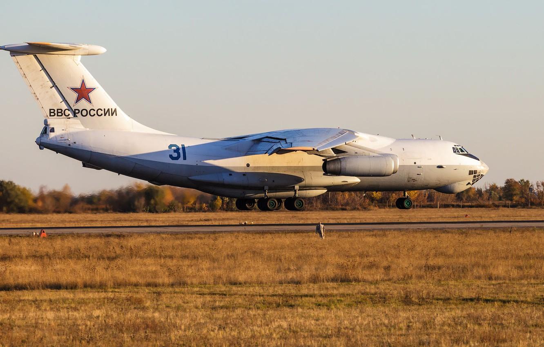 Photo wallpaper landing, RUSSIAN AIR FORCE, Il-76TD, The Air Base Engels