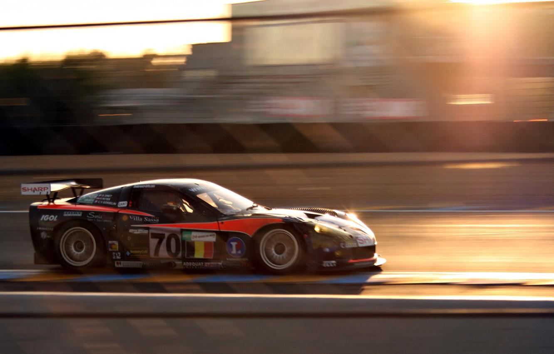 Photo wallpaper speed, blur, corvette