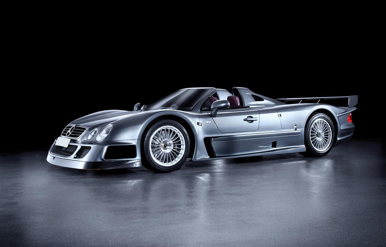 Photo wallpaper Roadster, Mercedes-Benz, 2006, GTR, supercar, Roadster, Mercedes, AMG, CLK, AMG, Road Version, RHD