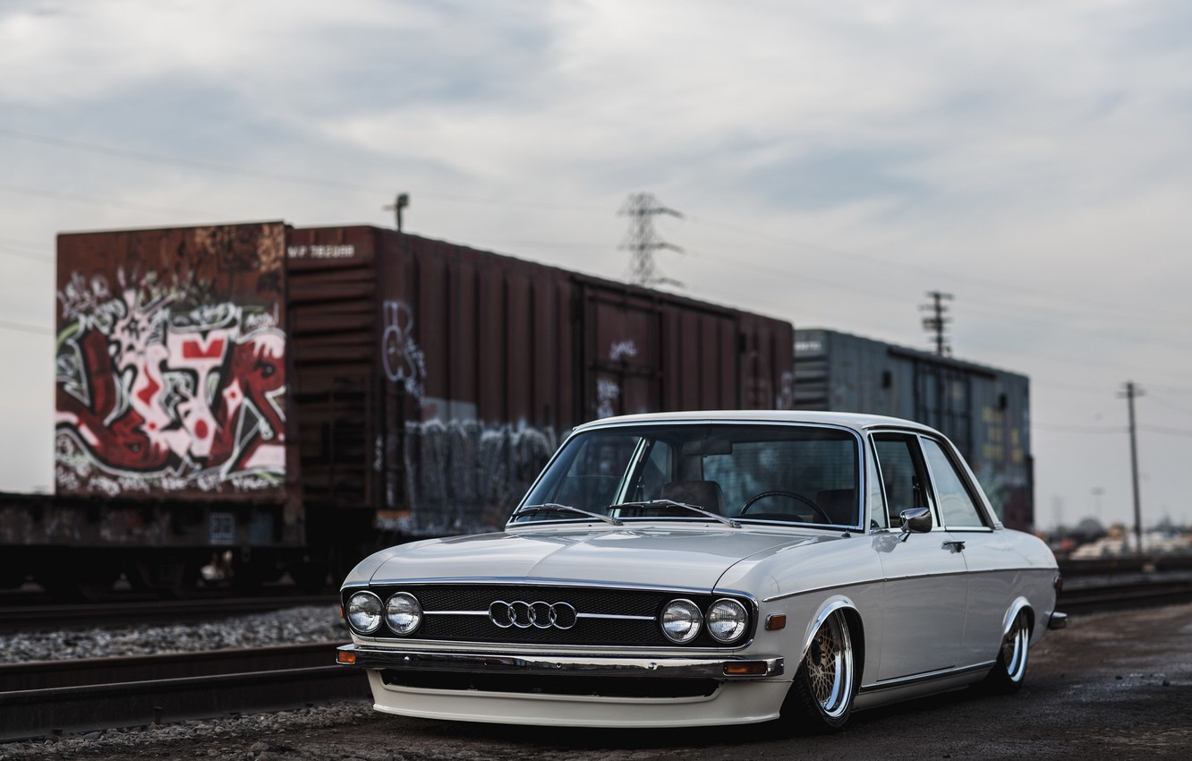 Wallpaper Audi Wheels Tuning Front Classic Train Face Old