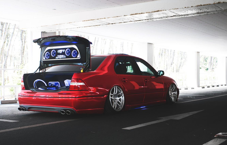 Photo wallpaper the trunk, lexus, Lexus, back, trunk, audio, celsior, celsior